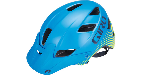 Giro Feature MIPS Helmet Matte blue/lime